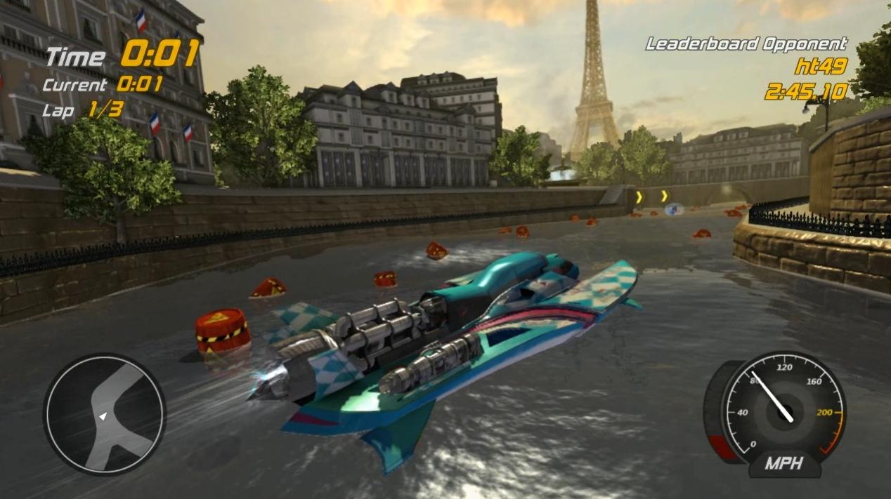 Hydro Thunder Hurricane - Paris Sewers Gauntlet w Banshee Trailer