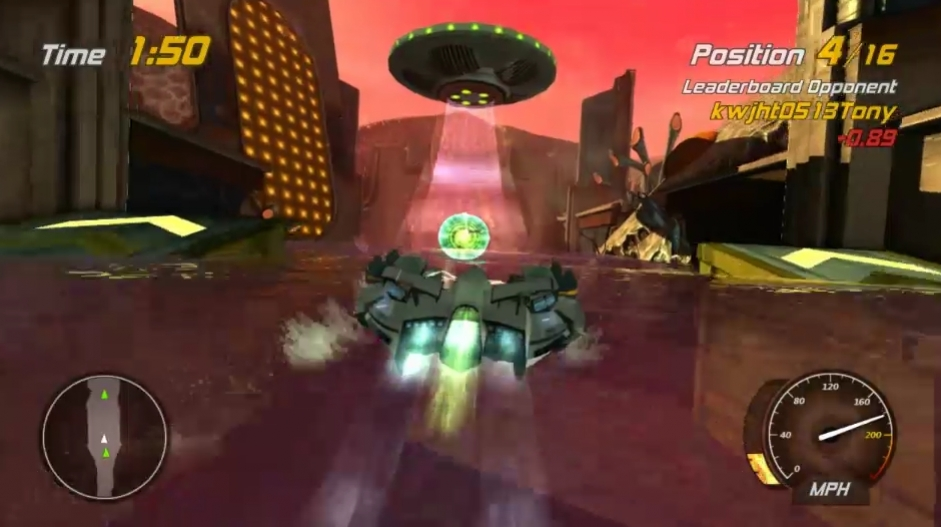 Hydro Thunder Hurricane - Area51 Race w Rad Hazard Trailer
